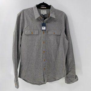 Lucky Brand Chamois Workwear Shirt grey sz M NWT